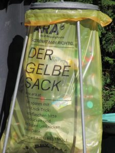 Gelber Sack Liter Volumen Inhalt Größe