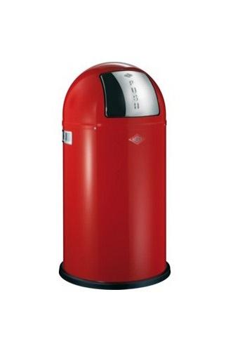 Wesco Pushboy Abfallsammler 50 Liter in rot | Mülltrennung mit Abfallguru