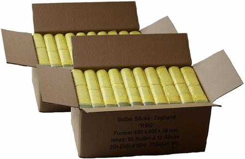2 Kartons mit 100 Rollen bzw. 1300 Säcken | Mülltrennung mit Abfallguru