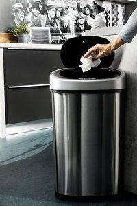 Mülleimer mit Sensor hygienischer Deckel