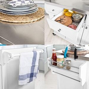 Küchenwagen mit Mülleimer Ablageflächen Abfallguru Mülltrennung