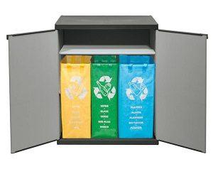 Verschließbarer Muelltrenner mit spritzwassergeschützter Deckel- & Bodenplatte Glas entsorgen Abfallguru Muelltrennung