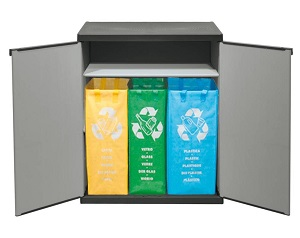 Freihstehendes und abschließbares Mülltrennungssystem - abfallguru.de